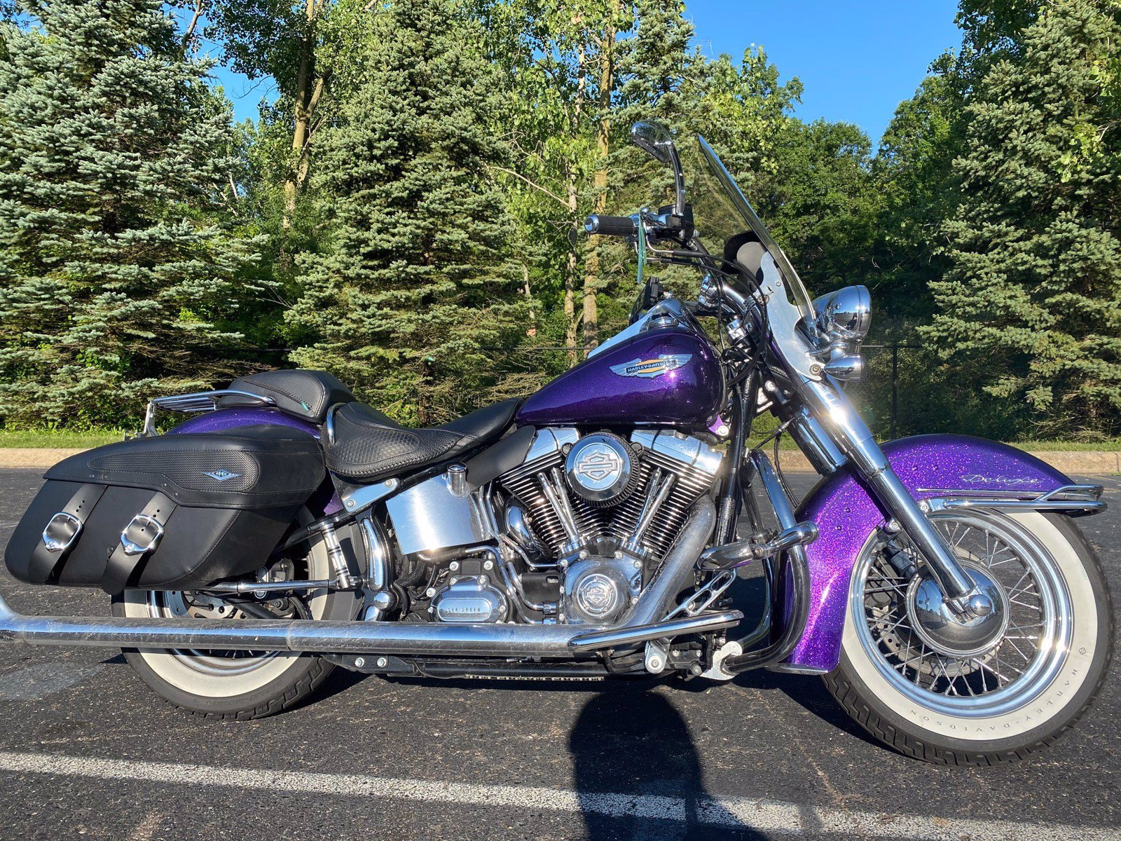 Pre-Owned 2014 Harley-Davidson Softail Deluxe FLSTN Chrome